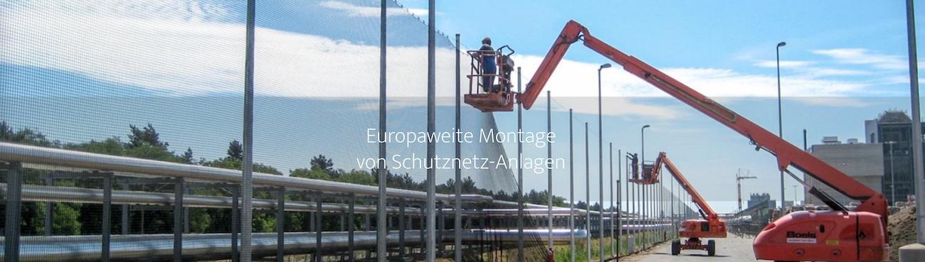 Schutznetzmontage mit Full-Service: Planung, Konzeption, Aufbau, Wartung